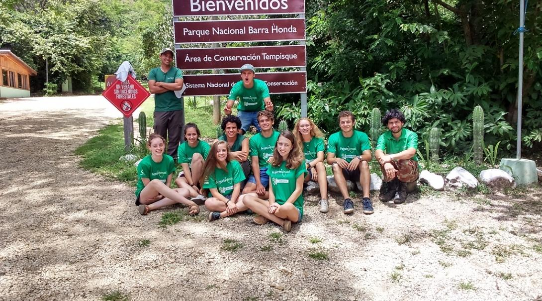 A group photo during Conservation volunteering in Costa Rica for teenagers